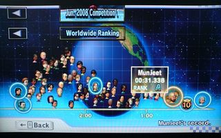 Mario kart wii is one of many games that lets you check your worldwide rankings
