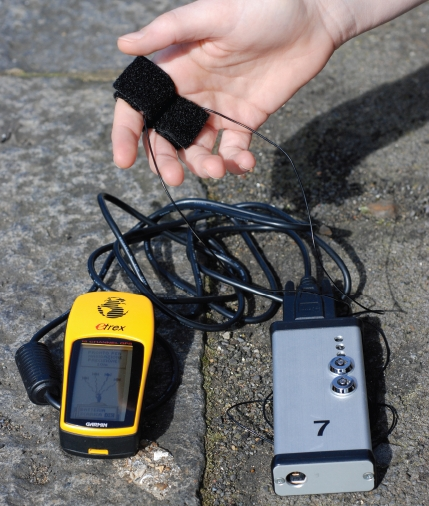 A bio-mapping sensor plus a GPS device