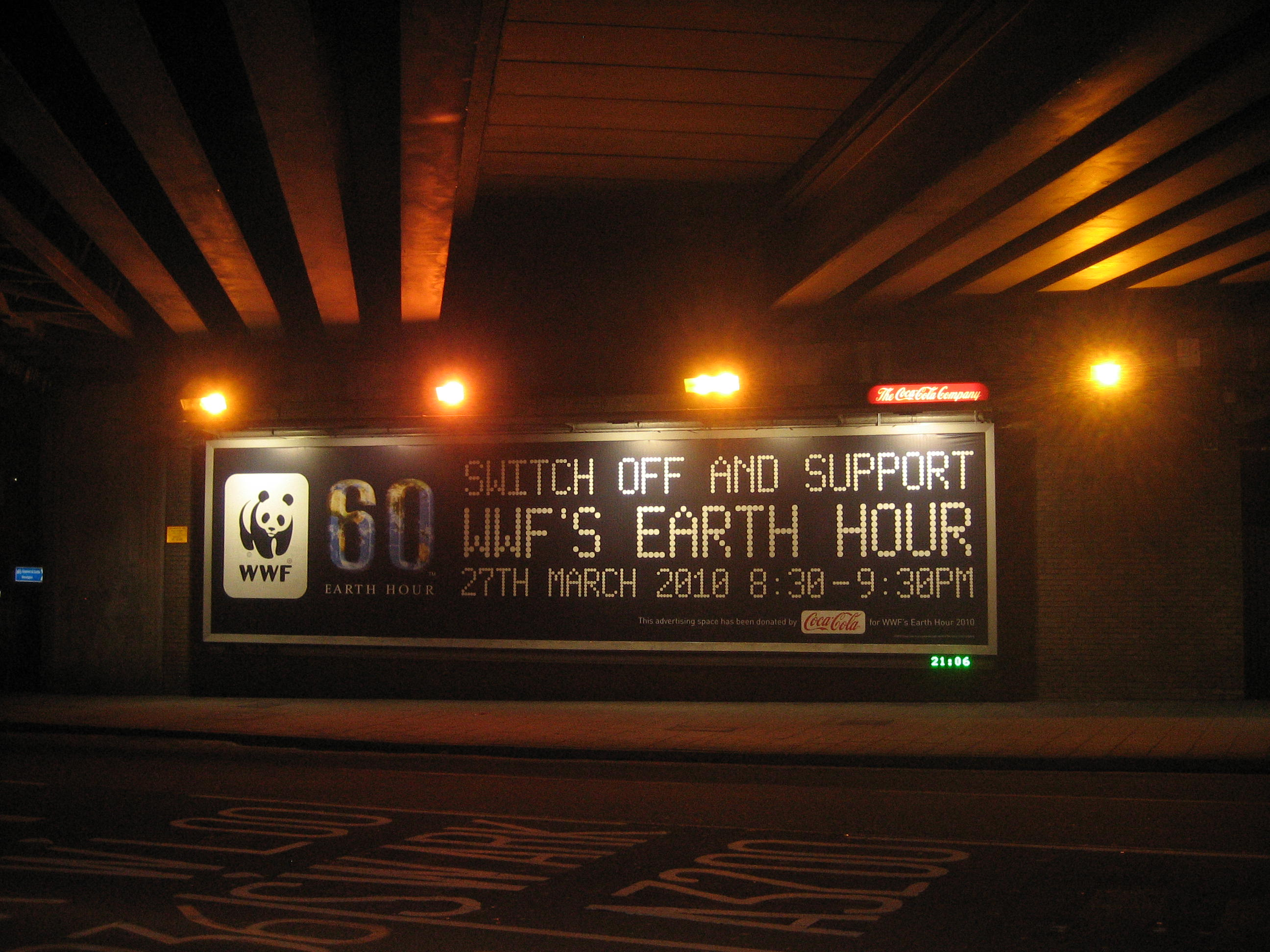 WWF Earth Hour FAIL