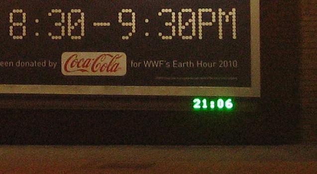 Yep, it's definitely Earth Hour